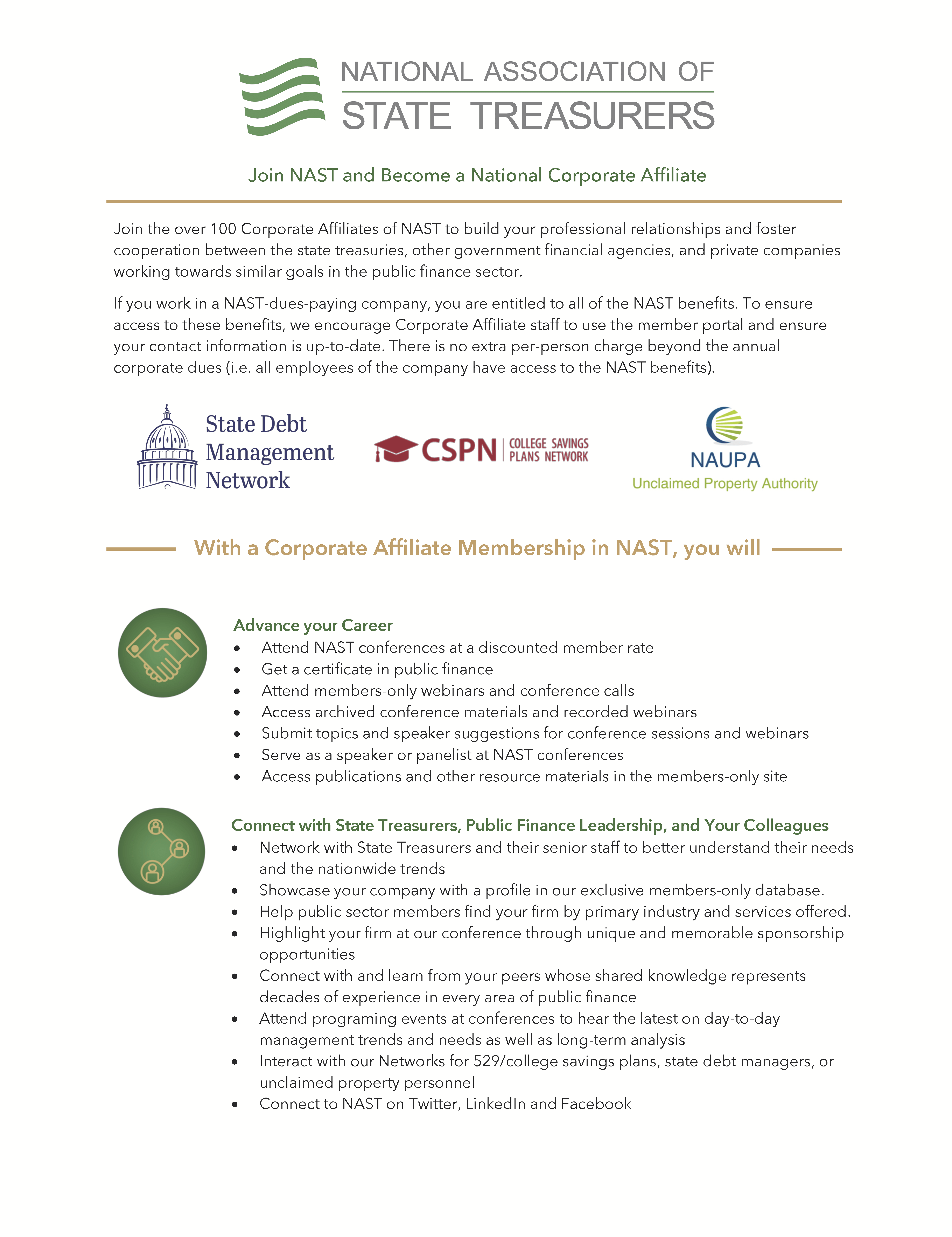 NAST Corporate Affiliate one-pager