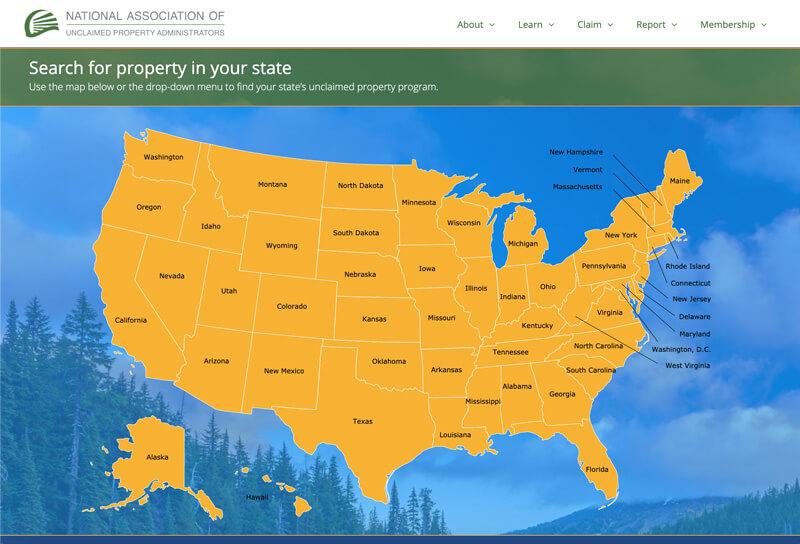 NAUPA map webpage