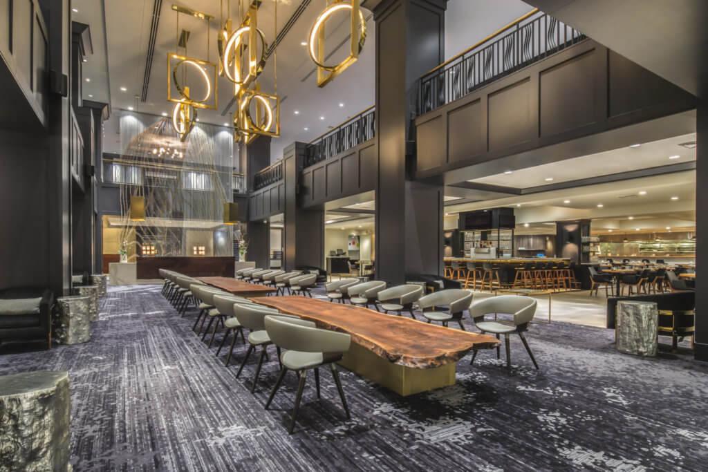 Hilton lobby PDX