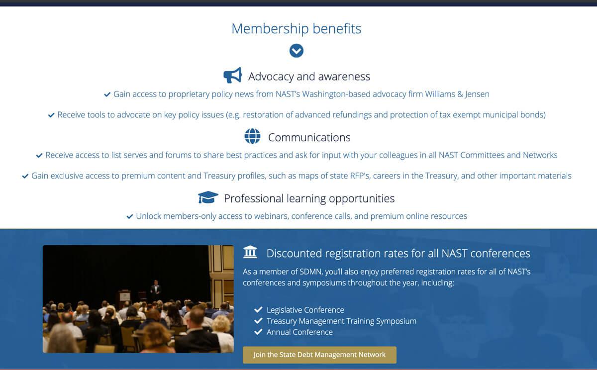 NAUPA member portal web page